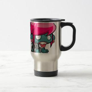 Zombie Girl Cartoon Travel Mug