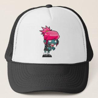 Zombie Girl Cartoon Trucker Hat