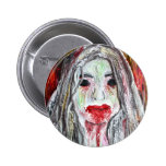 Zombie Girl Pin Button
