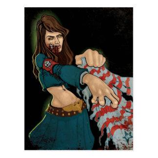 Zombie girl postcard