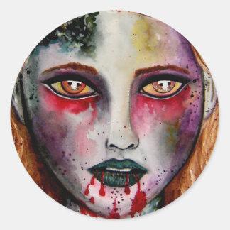 Zombie Girl Stickers