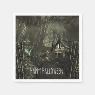 Zombie Graveyard Birthday or Halloween Party Paper Napkins
