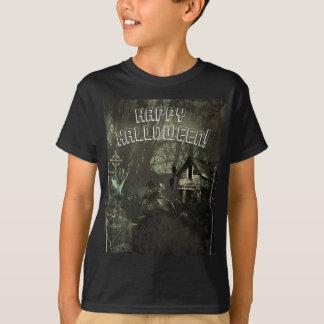 Zombie Graveyard Horror Scary Custom Halloween T-Shirt