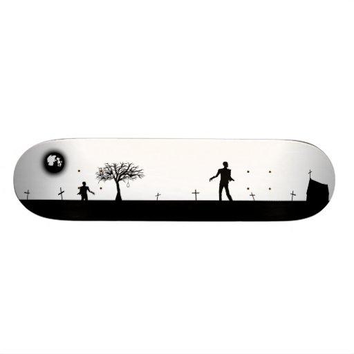 Zombie Graveyard Inverted Custom Skateboard