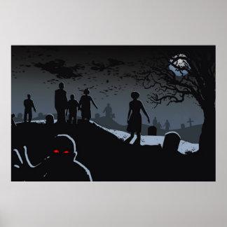 Zombie Graveyard Poster