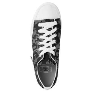 Zombie Grey Camouflage Low Tops
