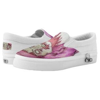 Zombie Grrrl Slip-On Sneakers