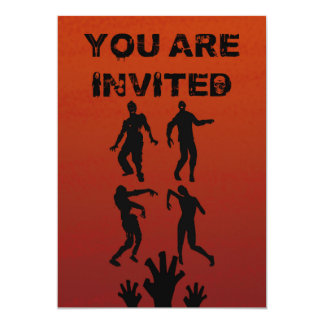 Zombie Halloween Invitation