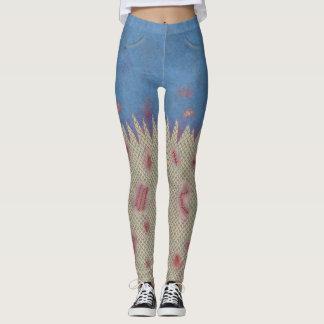 Zombie Halloween Scars Stitches Funny Costume Leggings