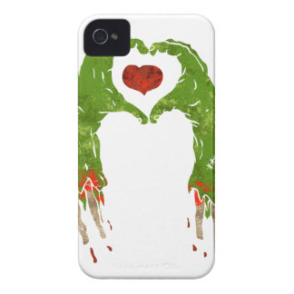 zombie hand making heart iPhone 4 covers