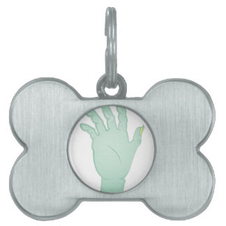 Zombie Hand Pet Name Tags