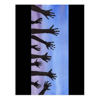 Zombie Hands at Dusk Postcard