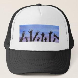 Zombie Hands at Dusk Trucker Hat