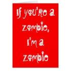 Zombie Happy Anniversary Card