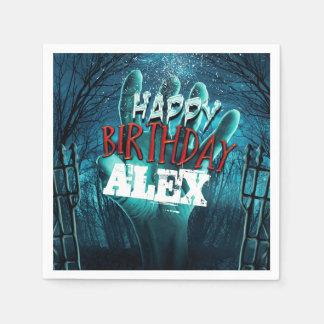 Zombie Happy Birthday Party Paper Napkin