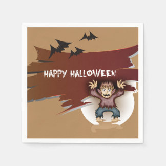 Zombie Happy Halloween Paper Napkin