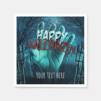 Zombie Happy Halloween Party Paper Napkin