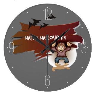 Zombie Happy Halloween Wallclock