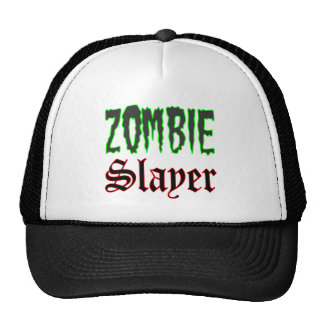 Zombie Hat Gifts Zombie Slayer logo