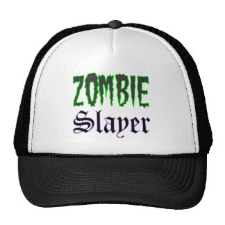 Zombie Hat Zombie Slayer logo Trucker Hat