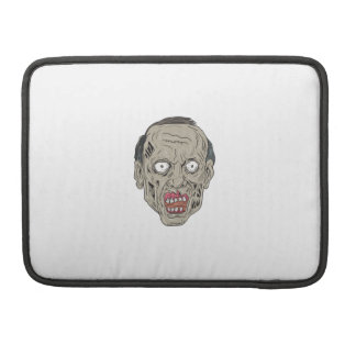 Zombie Head Front Drawing Sleeve For MacBook Pro
