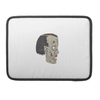Zombie Head Side Drawing Sleeve For MacBook Pro