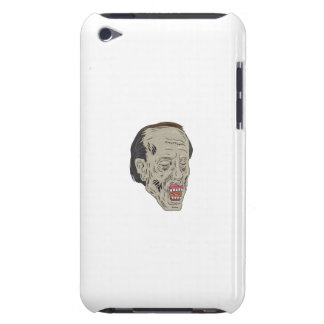 Zombie Head Three Quarter View Drawing Barely There iPod Covers