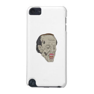 Zombie Head Three Quarter View Drawing iPod Touch 5G Cover