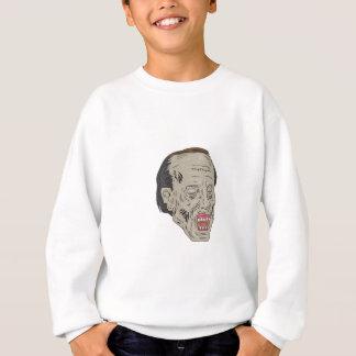 Zombie Head Three Quarter View Drawing Sweatshirt