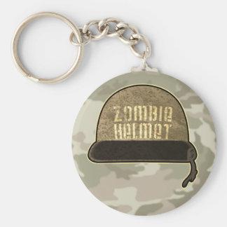 Zombie Helmet Keychain