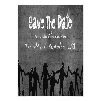 Zombie Horde Gothic Dark Save the Date Magnetic Card
