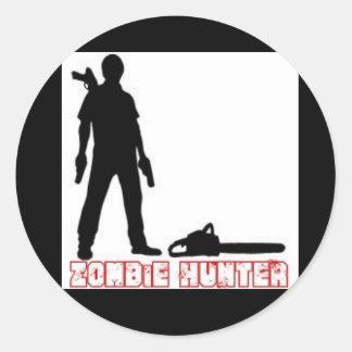 Zombie-Hunter Classic Round Sticker