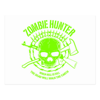 Zombie Hunter Postcard