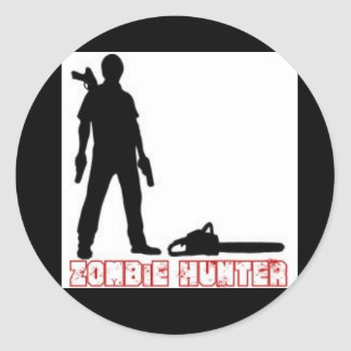 Zombie-Hunter Round Sticker