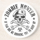 zombie hunter undead living dead coaster