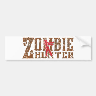 Zombie Hunter Walking Dead Gifts Bumper Sticker