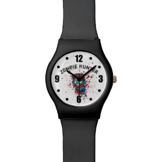 Zombie Hunter with Blood Splatter Creepy Cool Watch