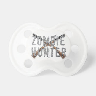 Zombie Hunter with Guns Baby Pacifiers