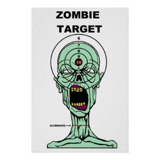 Zombie Hunters Target Poster