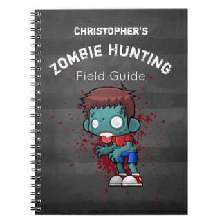 Zombie Hunting Field Guide Funny Notebooks