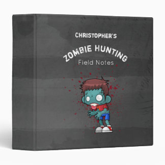 Zombie Hunting Field Notes Binder