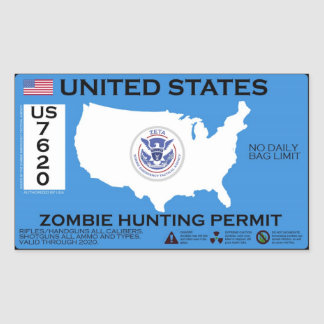 Zombie Hunting Permit - ZETA Sticker