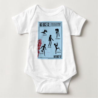 Zombie Identification Chart Baby Bodysuit
