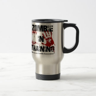 Zombie in Training 15 Oz Stainless Steel Travel Mug
