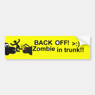 Zombie In Trunk Bumper Sticker