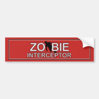 Zombie Interceptor Bumper Sticker