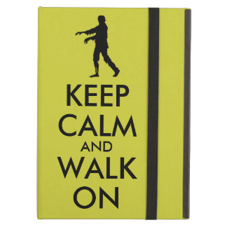 Zombie ipad Case Walking Silhouette Keep Calm and