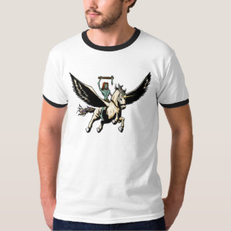 Zombie Jesus Rides Pegasus To Glory T-Shirt