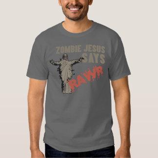 Zombie Jesus Says RAWR Shirt
