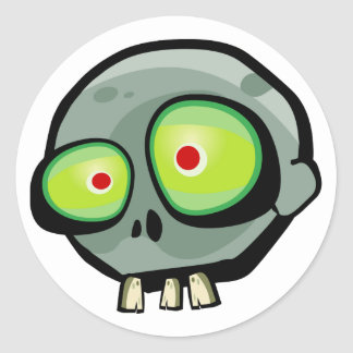 Zombie Jim Classic Round Sticker